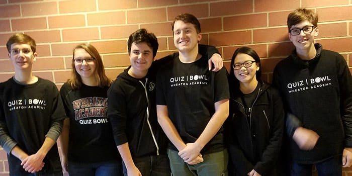 Extra curricular Quiz Bowl team at Wheaton Academy, a private Christian high school