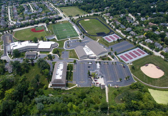 Wheaton Academy Campus Aerial View