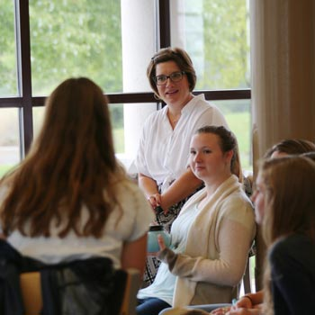 High school students are mentored in Advisory Groups at Wheaton Academy
