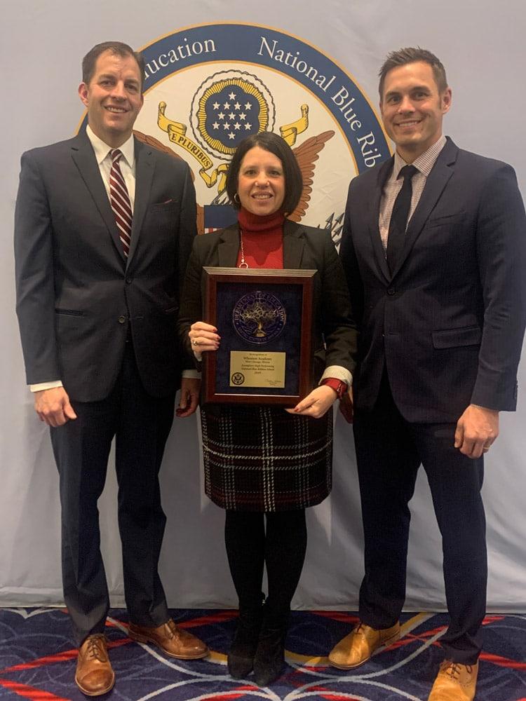 Wheaton Academy receives the Blue Ribbon Award