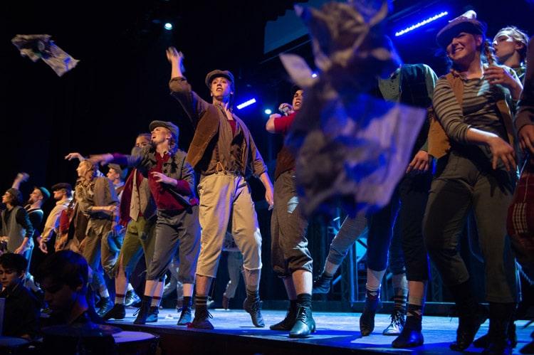 Wheaton Academy students perform Newsies