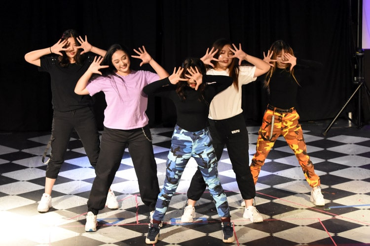International Students perform in the Kairos Show