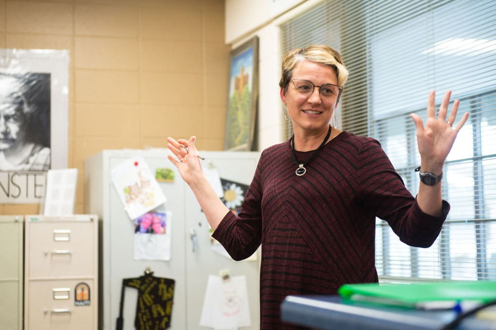 Val Gregersen teaches math at Wheaton Academy