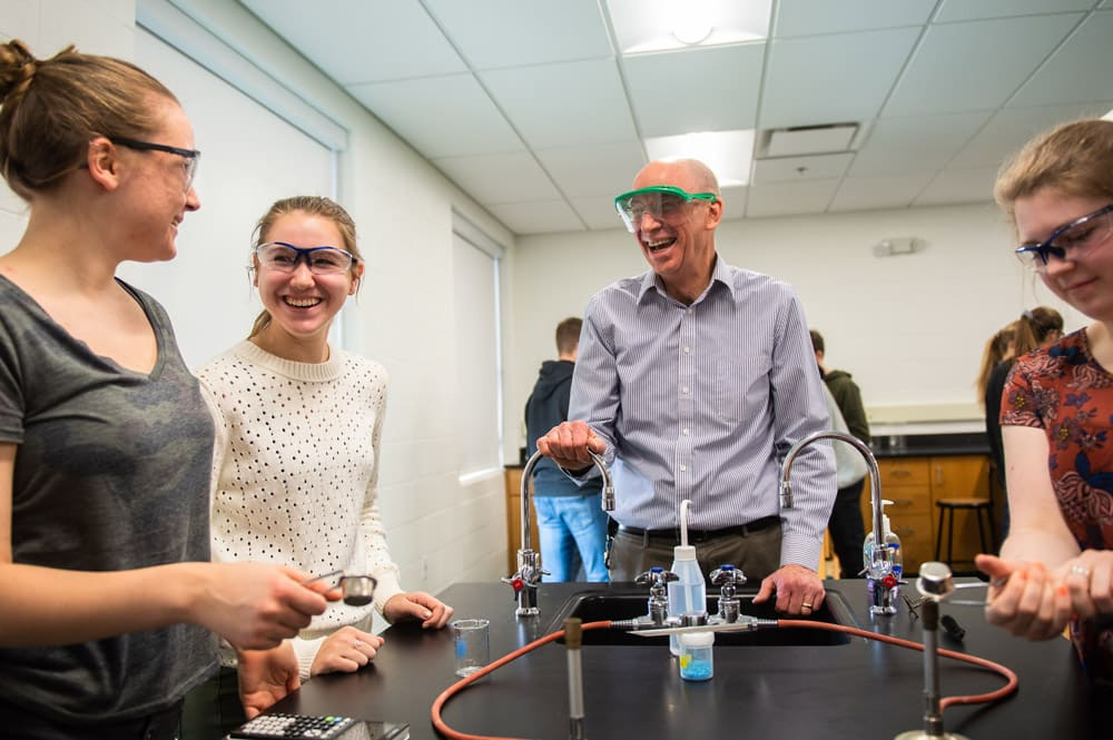 Mr. Mack teaches a chemistry Lab