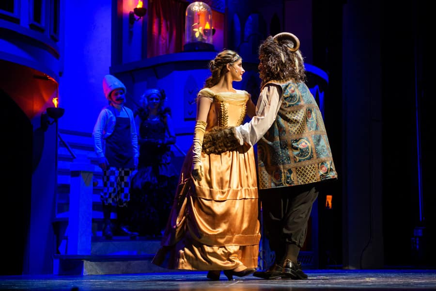 High school students perform Beauty and the Beast musical