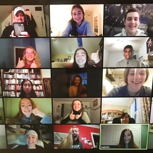 Students meet on Zoom