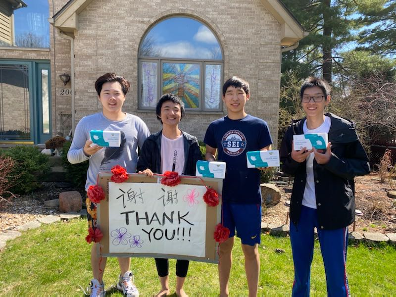 Chinese Families Send Masks to Wheaton Academy