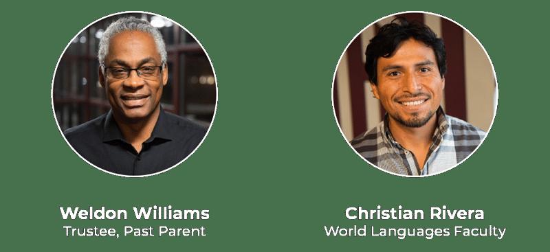 Weldon Williams and Christian Rivera