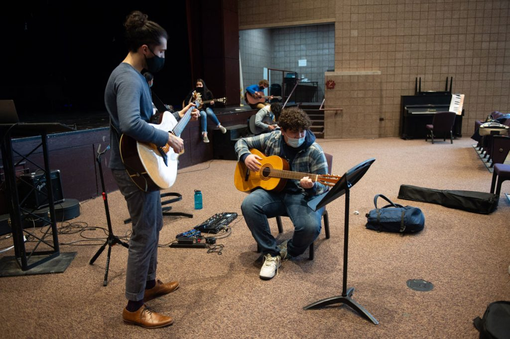 Students practice leading worship at Wheaton Academy