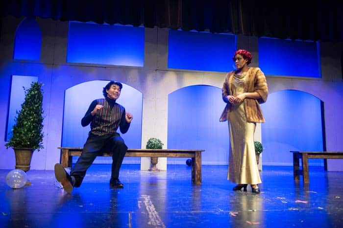 Much Ado: Borachio and Lady Gianna plot together